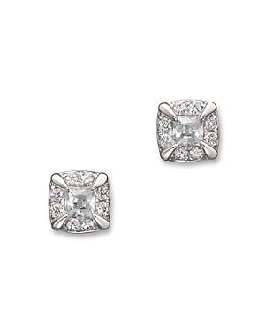 Diamond Princess Cut Stud Earrings in 14K White Gold, .25 ct. t.w. - 100% Exclusive
