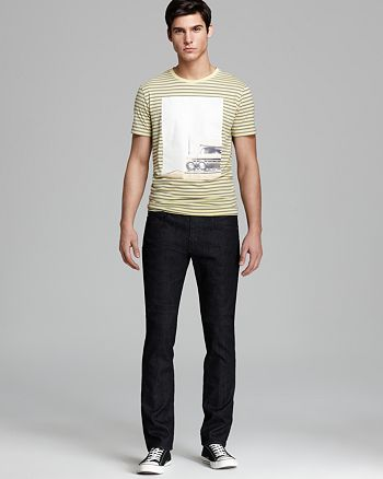 BOSS Hugo Boss - BOSS Orange Stripe Car Graphic Tee & AG Adriano Goldschmied The Matchbox Slim Straight Fit Jeans in Heat