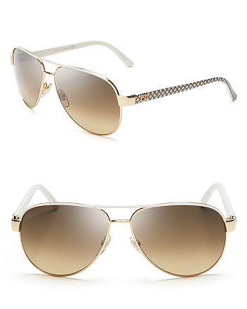 2578d16ce Gucci Women's Glitter Twilight Side Aviator Sunglasses, 58mm ...