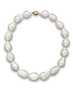 """Bloomingdale's - Baroque Freshwater Pearl Necklace in 14K Yellow Gold, 17""""- 100% Exclusive"""