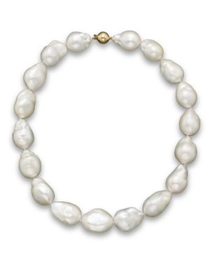 Baroque Freshwater Pearl Necklace in 14K Yellow Gold, 17
