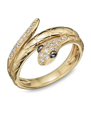 Bloomingdale's - Diamond Snake Ring in 14K Yellow Gold, .15 ct. t.w.- 100% Exclusive