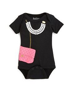 Sara Kety - Girls' Necklace & Purse Bodysuit - Baby