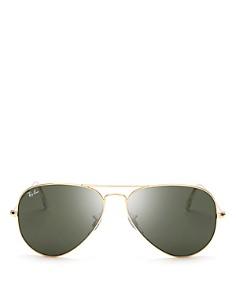Ray-Ban - Unisex Classic Brow Bar Aviator Sunglasses, 58mm