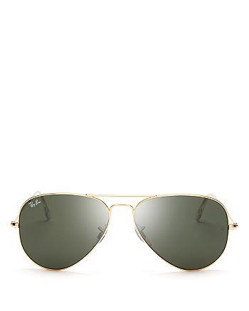 Ray-Ban - Unisex Aviator Sunglasses, 55mm
