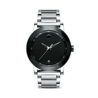 Movado Museum Black Dial Stainless Steel Men's Watch