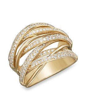 Bloomingdale's - Diamond Multi-Row 14K Yellow Gold Band, .70 ct. t.w. - 100% Exclusive