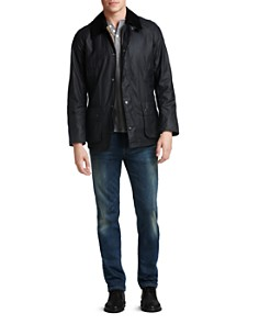 Barbour Ashby Tailored Waxed Cotton Coat, Jack Spade Dawn Henley & Joe's Jeans - The Brixton Vintage Reserve Straight Fit Zander - Bloomingdale's_0