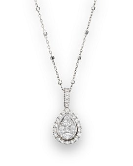 "Bloomingdale's - Diamond Fancy Cut Teardrop Pendant Necklace, 18"" - 100% Exclusive"