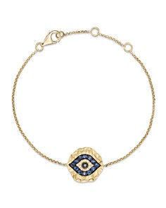 Diamond and Sapphire Evil Eye Bracelet in 14K Yellow Gold - Bloomingdale's_0