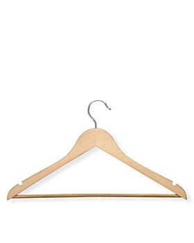 Honey Can Do - Honey Can Do Wood Nonslip Maple-Finish Hangers, Set of 24