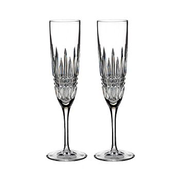 Waterford - Lismore Diamond Flute, Set of 2