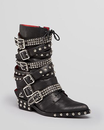 Jeffrey Campbell - Wedge Booties - Draco Studded