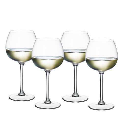 Villeroy & Boch - Purismo White Wine Soft & Round Glass, Set of 4