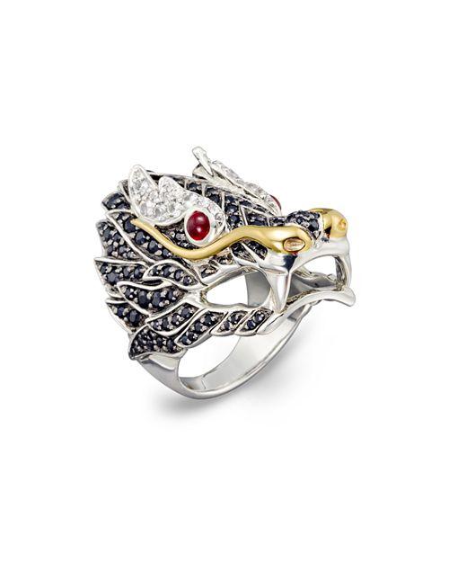 John Hardy - Sterling Silver & 18K Gold Naga Lava Dragon Ring