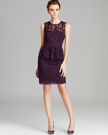 9fd4d8b4136c9 Shoshanna Sleeveless Open Back Peplum Lace Dress - Celeste ...