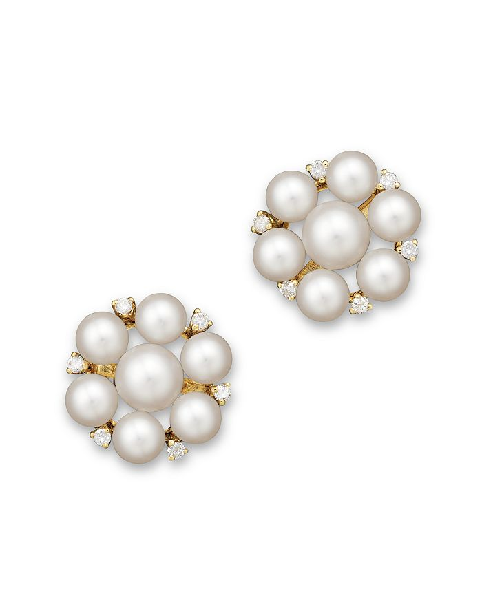 578c7da3a Bloomingdale's - Cultured Freshwater Pearl Cluster Earrings in 14K Yellow  Gold, 5mm - 100