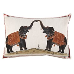 "John Robshaw - JR by John Robshaw Two Elephants Decorative Pillow, 12"" x 18"""