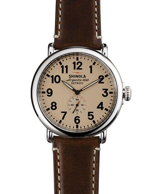 Shinola - The Runwell Dark Coffee & Cream Dial Watch, 47mm