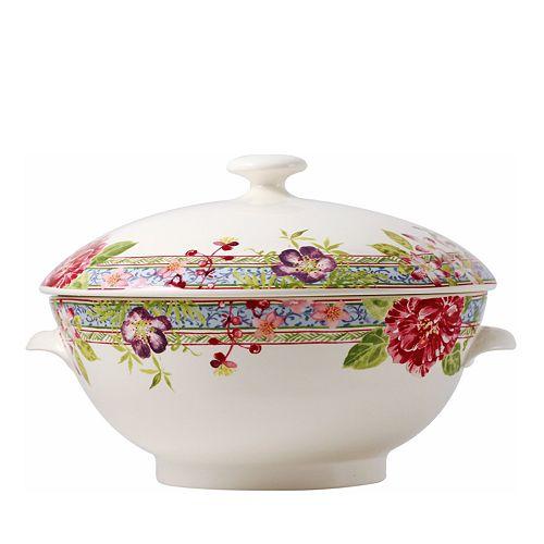 Gien France - Mille Fleur Covered Soup Tureen