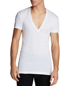 2(X)IST Pima Cotton Slim Fit Deep V-Neck Tee - Bloomingdale's_0
