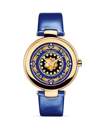 d1a9e2e8ddb Versace - ystique Foulard Round Rose Gold PVD Watch