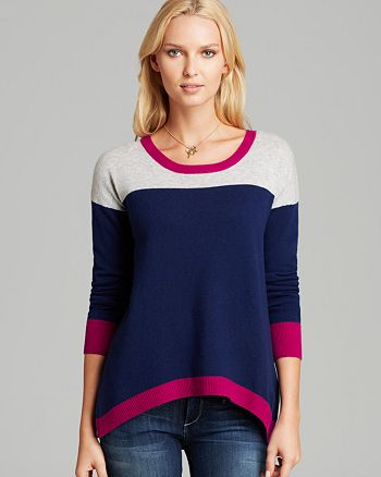 JAMISON - Color Block Trim Sweater