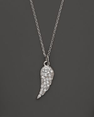 Kc Designs Diamond Wing Pendant Necklace in 14K White Gold, .07 ct. t.w.