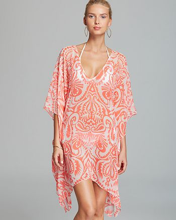 Echo - Block Print Caftan Swim Cover-Up