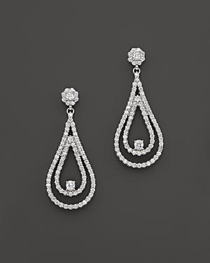 Diamond Teardrop Statement Earrings in 14K White Gold, 4.0 ct. t.w. - 100% Exclusive