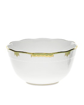 Herend - Princess Victoria Green Round Bowl