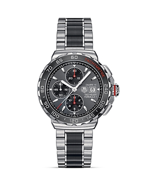Tag Heuer Formula 1 Calibre 16 Chronograph Steel and Brushed Ceramic Watch, 44mm