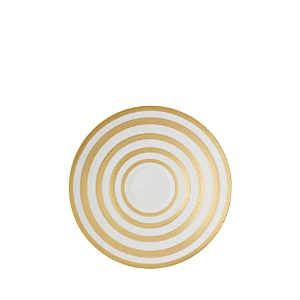 Jl Coquet Hemisphere Tea Saucer, Gold Stripe