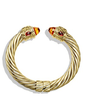 David Yurman - Renaissance Bracelet with Citrine and Iolite in Gold