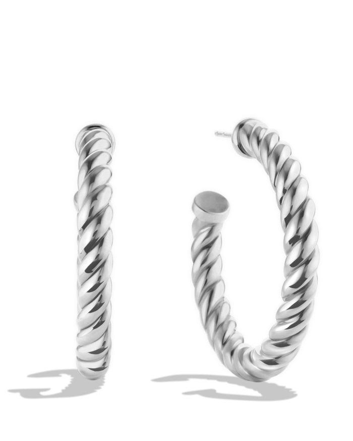 David Yurman Cable Classics Hoop Earrings  | Bloomingdale's