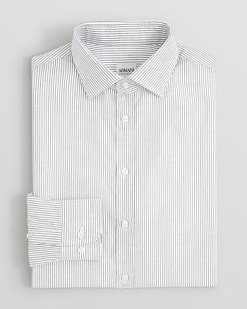 Armani - Textured Stripe Dress Shirt - Regular Fit