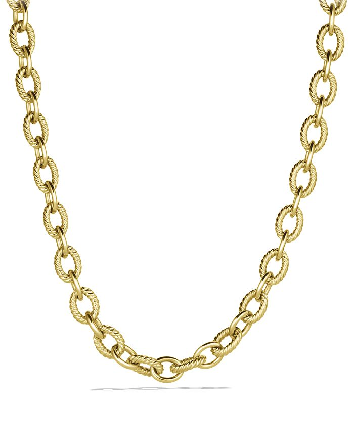 David Yurman - Large Oval Link Necklace in Gold