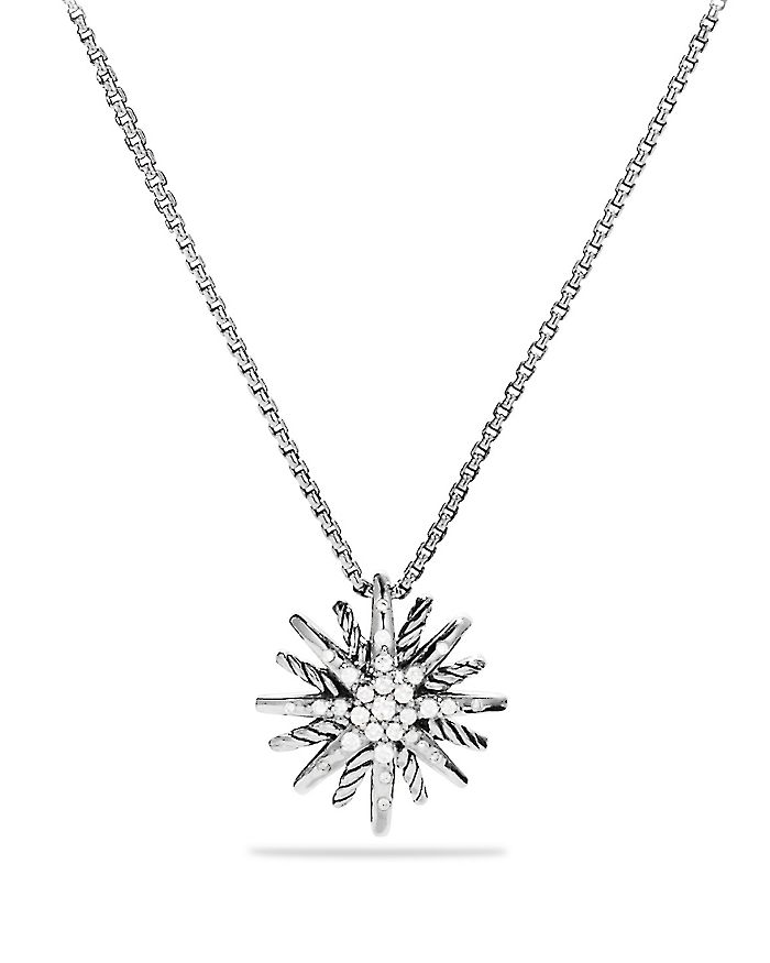 David Yurman - Starburst Small Pendant with Diamonds on Chain