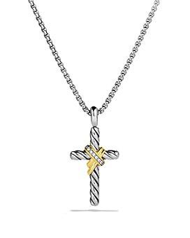 David Yurman - X Cross with Diamonds & Gold on Chain