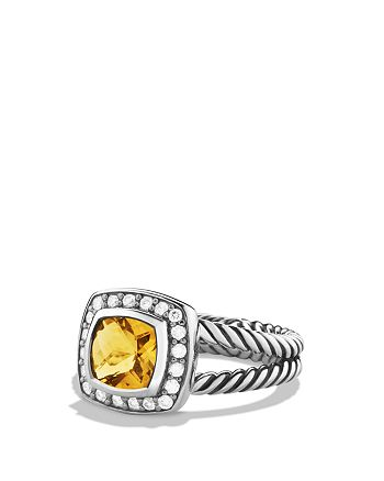 David Yurman - Petite Albion Ring with Citrine & Diamonds