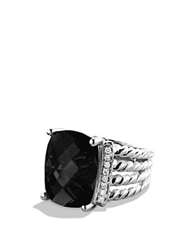 David Yurman - Wheaton Ring with Black Onyx and Diamonds