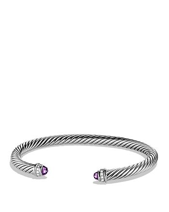 David Yurman - Cable Classics Bracelet with Amethyst & Diamonds