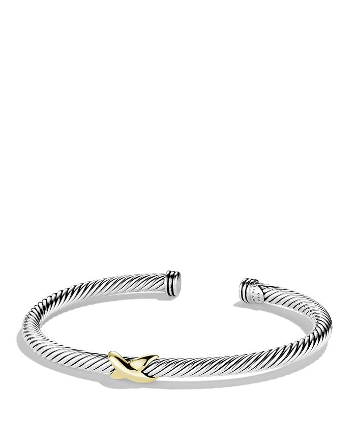 David Yurman - X Bracelet with Gold
