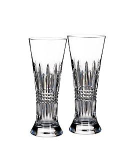 Waterford - Waterford Lismore Diamond Pilsner Glass, Set of 2