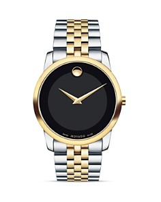 Movado Museum Classic Two-Tone Stainless Steel Watch, 40mm - Bloomingdale's_0