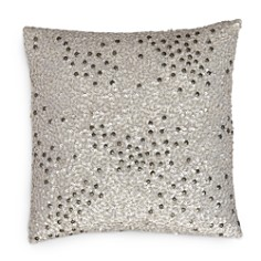 "Donna Karan Reflection Silver Sequin Decorative Pillow, 12"" x 12"" - Bloomingdale's_0"