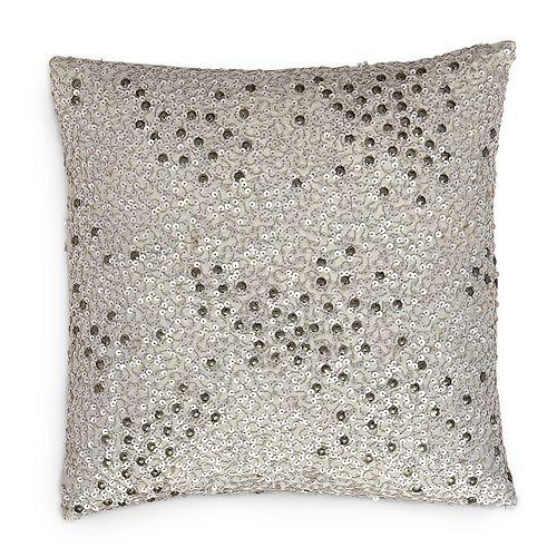 Donna Karan Reflection Silver Sequin Decorative Pillow 40 X 40 Impressive Silver Sequin Decorative Pillow