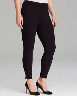 Lysse Plus Cotton Leggings with Ankle Vents