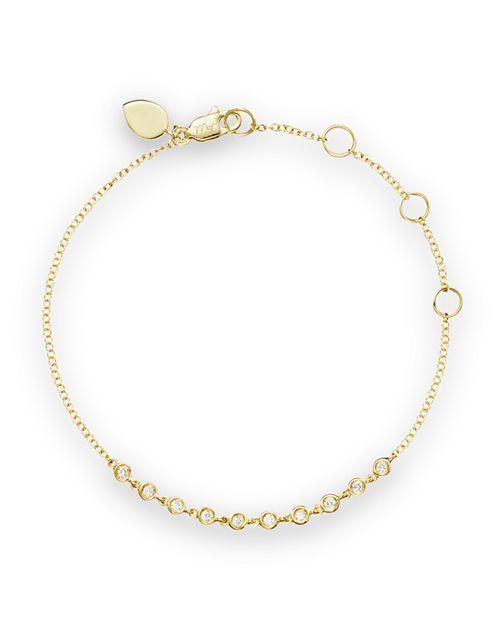 Meira T 14k Yellow Gold Diamond Bezel Bracelet