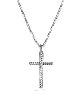 David Yurman - Crossover Cross with Diamonds on Chain